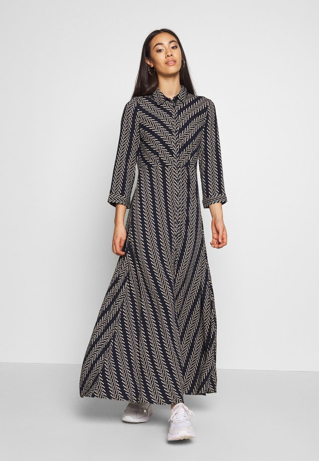 YASSAVANNA BOHO LONG DRESS - Maxi dress - navy blazer/creme