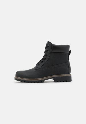 VEGAN BRYCE - Lace-up ankle boots - black