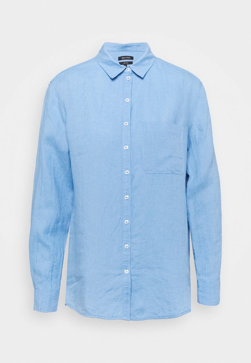 Marc O'Polo - BLOUSE LONG SLEEVED EASY SHAPED - Button-down blouse - washed cornflower