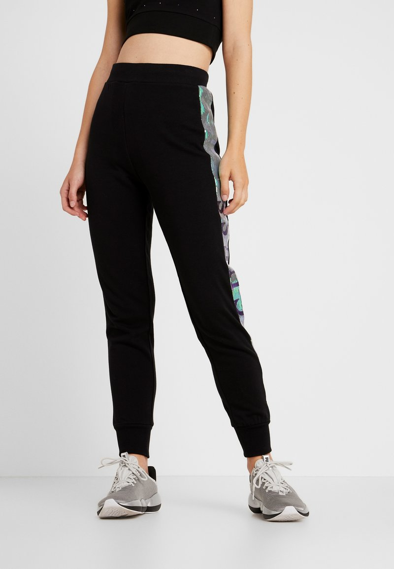 Guess - LONG PANT - Tracksuit bottoms - jet black/frost