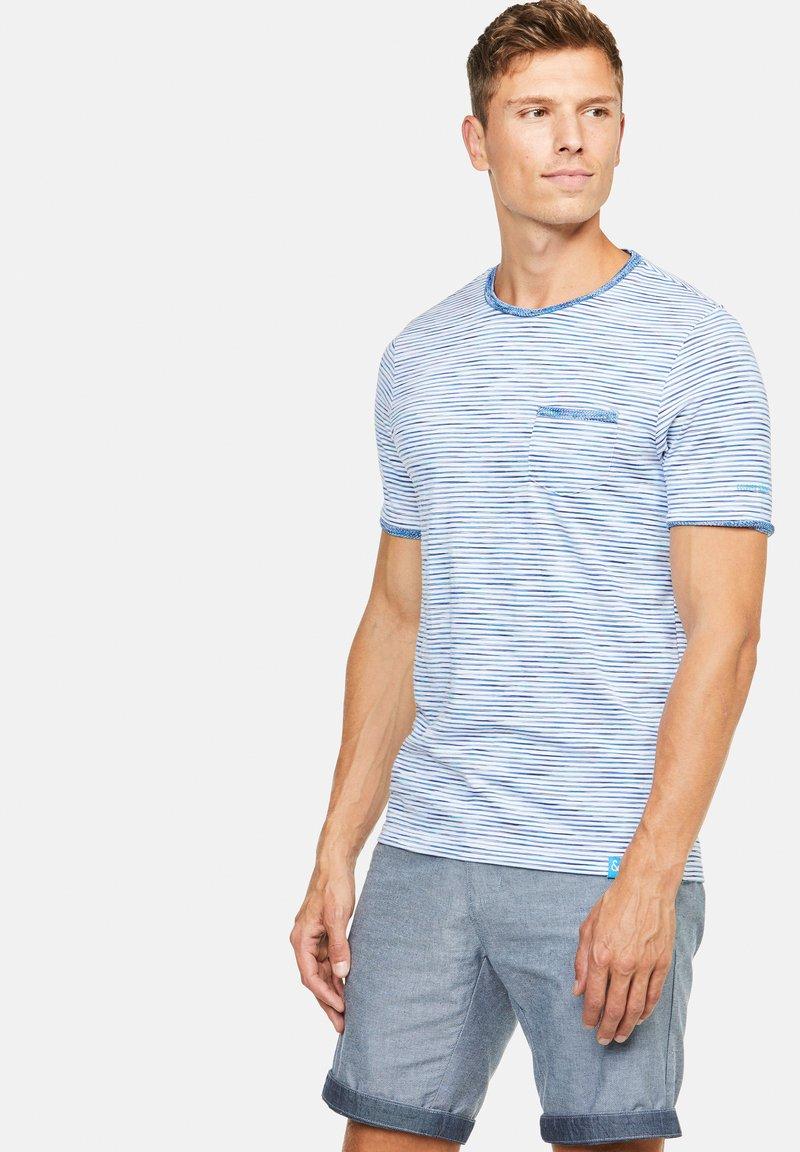 Colours & Sons - MARIO - Print T-shirt - blau