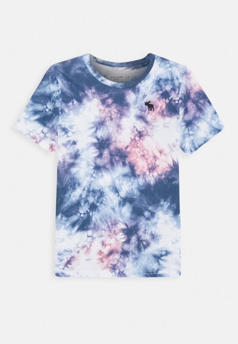 Abercrombie & Fitch - DYE EFFECTS - Print T-shirt - white