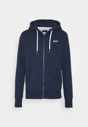 ORANGE LABEL - Zip-up hoodie - midnight blue grit