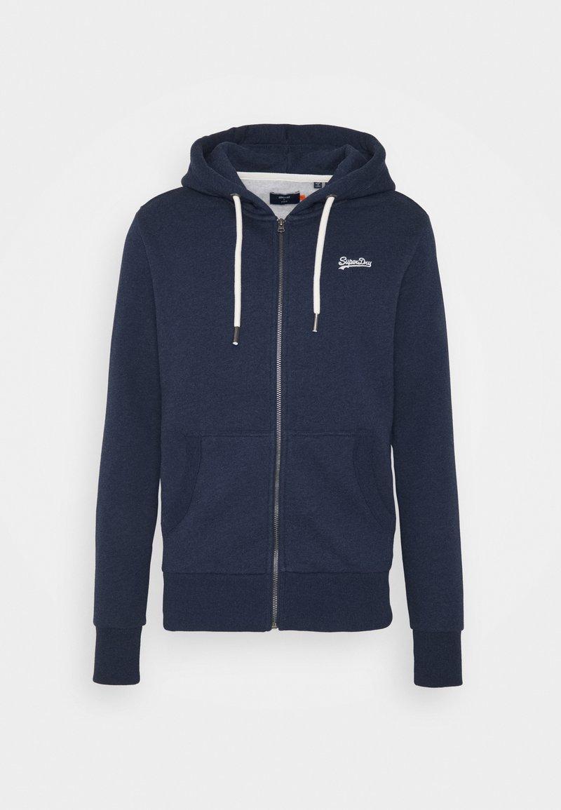 Superdry - ORANGE LABEL - Zip-up hoodie - midnight blue grit