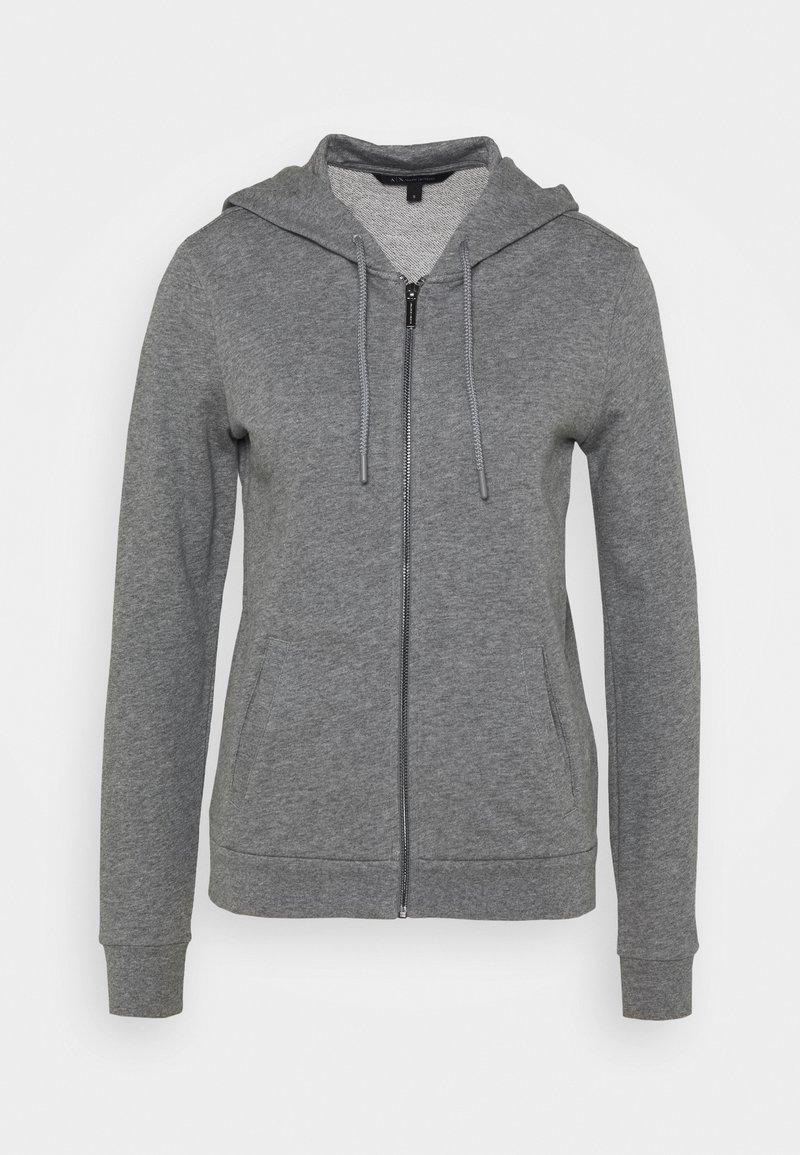 Armani Exchange - Mikina na zip - grey heather