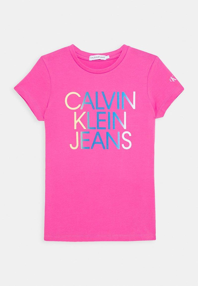 Calvin Klein Jeans - GRADIENT HERO LOGO - Triko spotiskem - pink