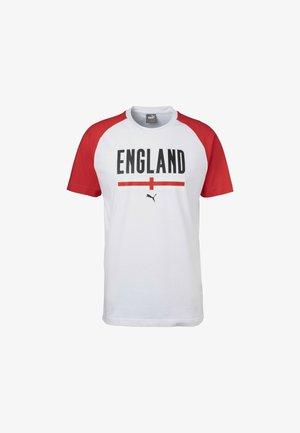 T-shirt print - white/high risk red