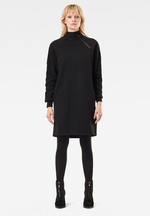 MOCK NECK BF LONG SLEEVE - Day dress - dk black