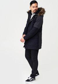 INDICODE JEANS - Winter coat - navy mix - 1