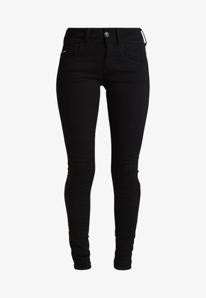 LYNN MID SUPER SKINNY  - Skinny džíny - yield black ultimate stretch denim