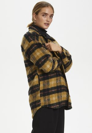 DHMELLIE LONG JACKET - Classic coat - mustard checks