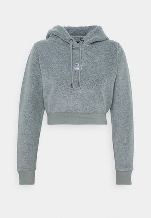 CROPPED HOOD - Fleece jumper - washed grey