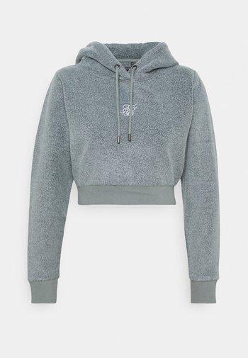 CROPPED HOOD - Fleece jumper - washed grey