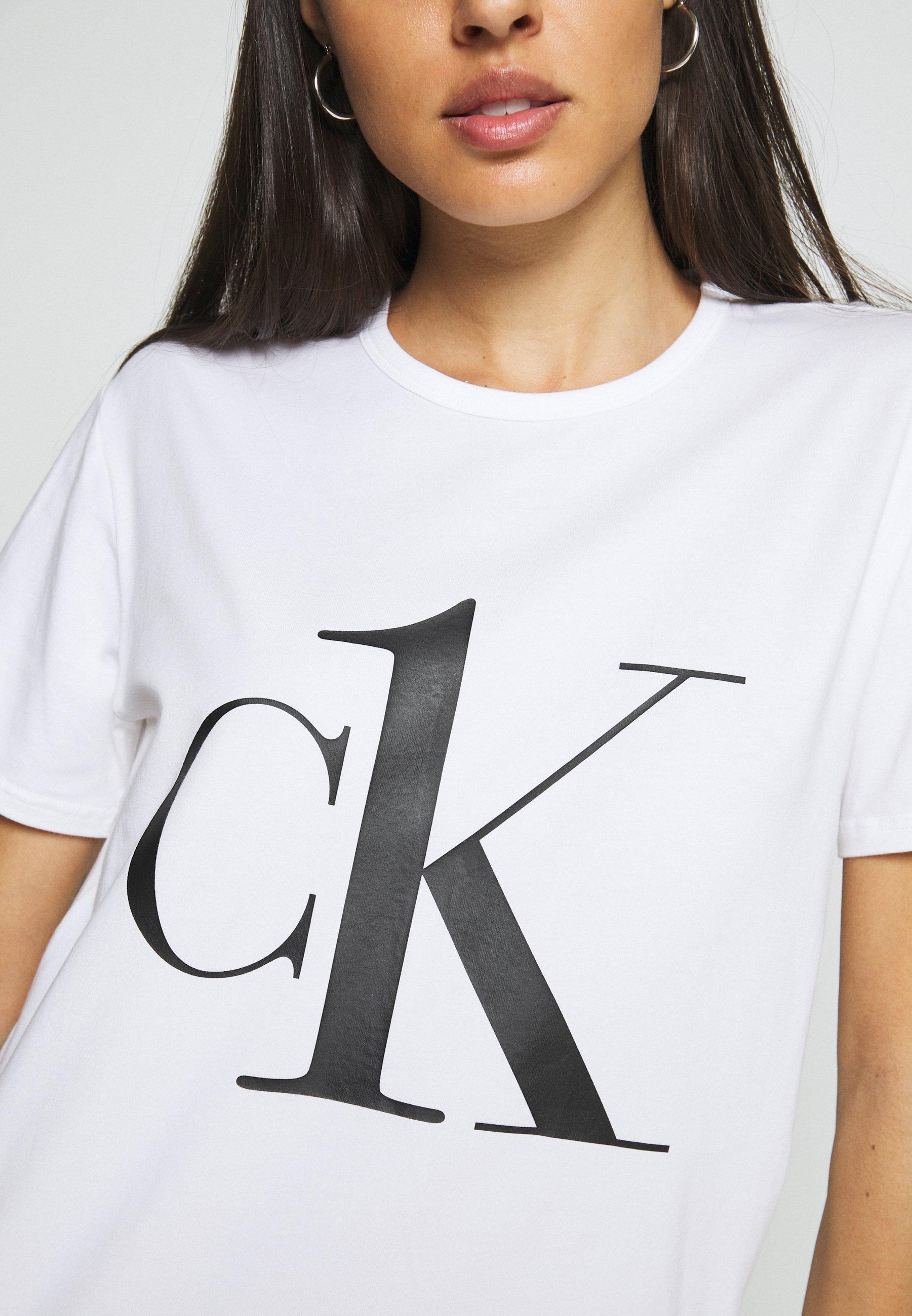 Donna ONE LOUNGE CREW NECK - Maglia del pigiama - white/black