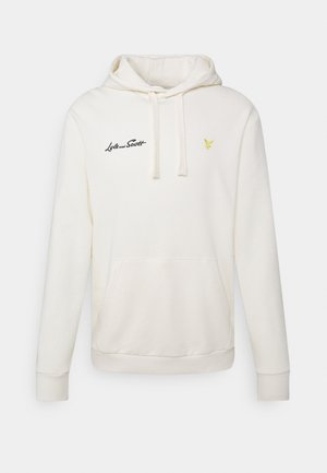 EMBROIDERED LETTER HOODIE - Sweater - vanilla ice
