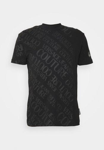 SLIM TRIS LOGO - Print T-shirt - black