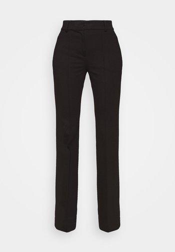 SLIM BOOTCUT PANT - Bukse - black