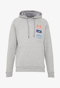 Under Armour - RIVAL ORIGINATORS HOODIE - Jersey con capucha - steel light heather/beta - 3