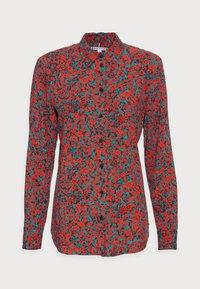 FLEUR BLOUSE - Button-down blouse - red