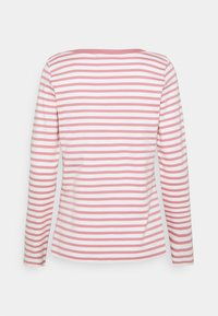 TOM TAILOR DENIM - CONTRAST NECK - Long sleeved top - rose/white - 1
