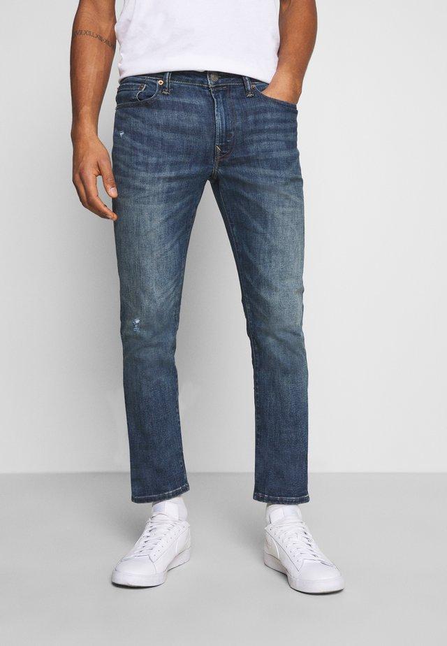 Jeans slim fit - dark destroy