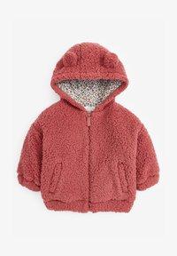 Next - FLEECE HOODY - Fleece jacket - pink - 0