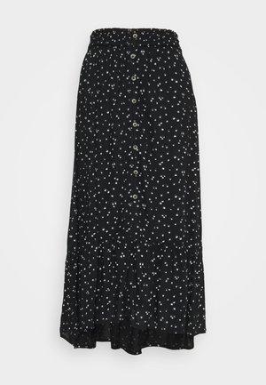 A-linjainen hame - black floral