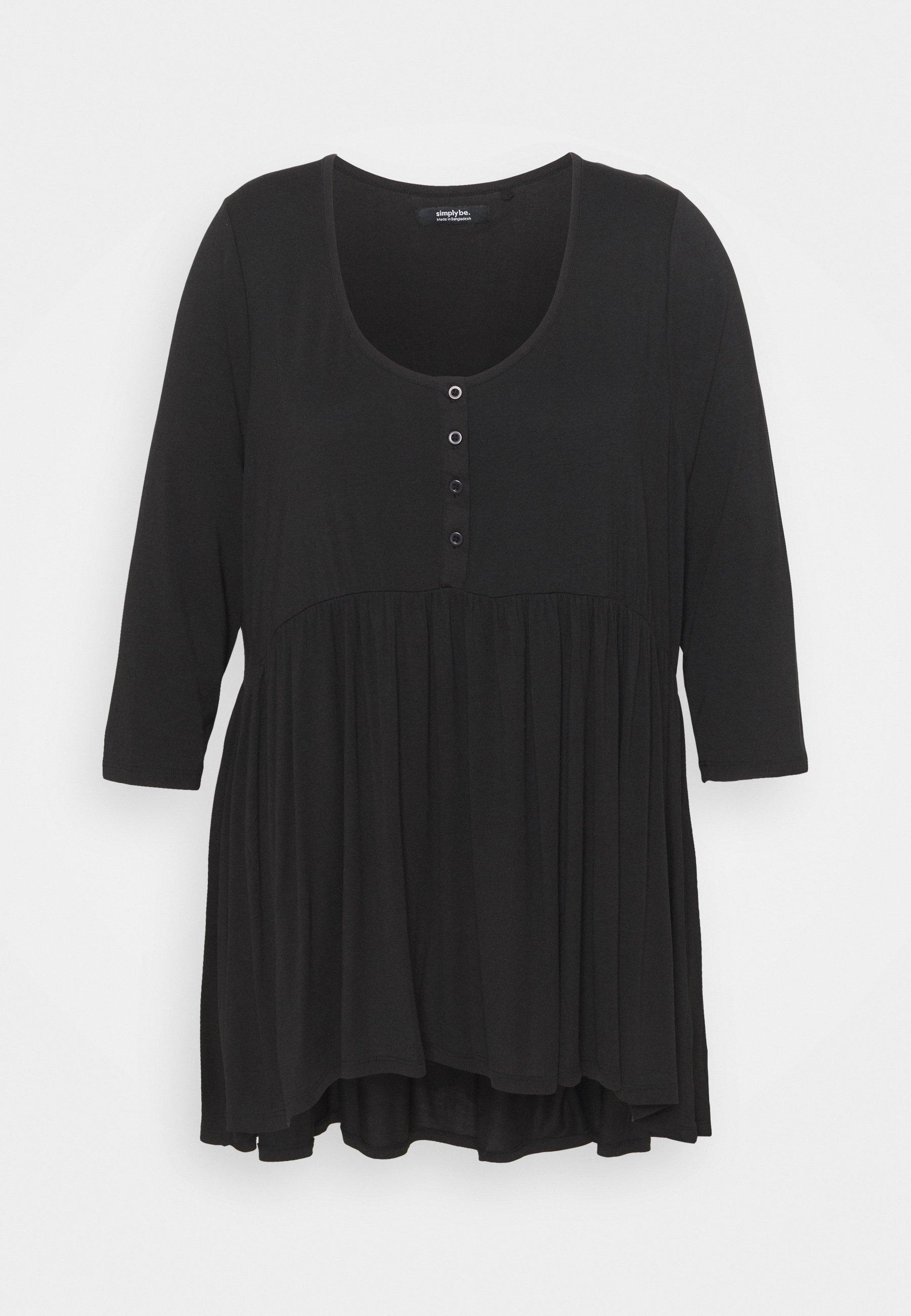 Femme SLEEVE BUTTON DOWN TUNIC - T-shirt à manches longues