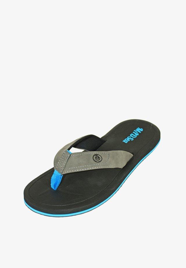 T-bar sandals - schwarz/blau