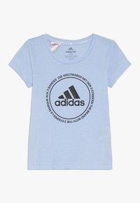 adidas Performance - PRIME TEE - T-shirts print - glow blue/black - 0