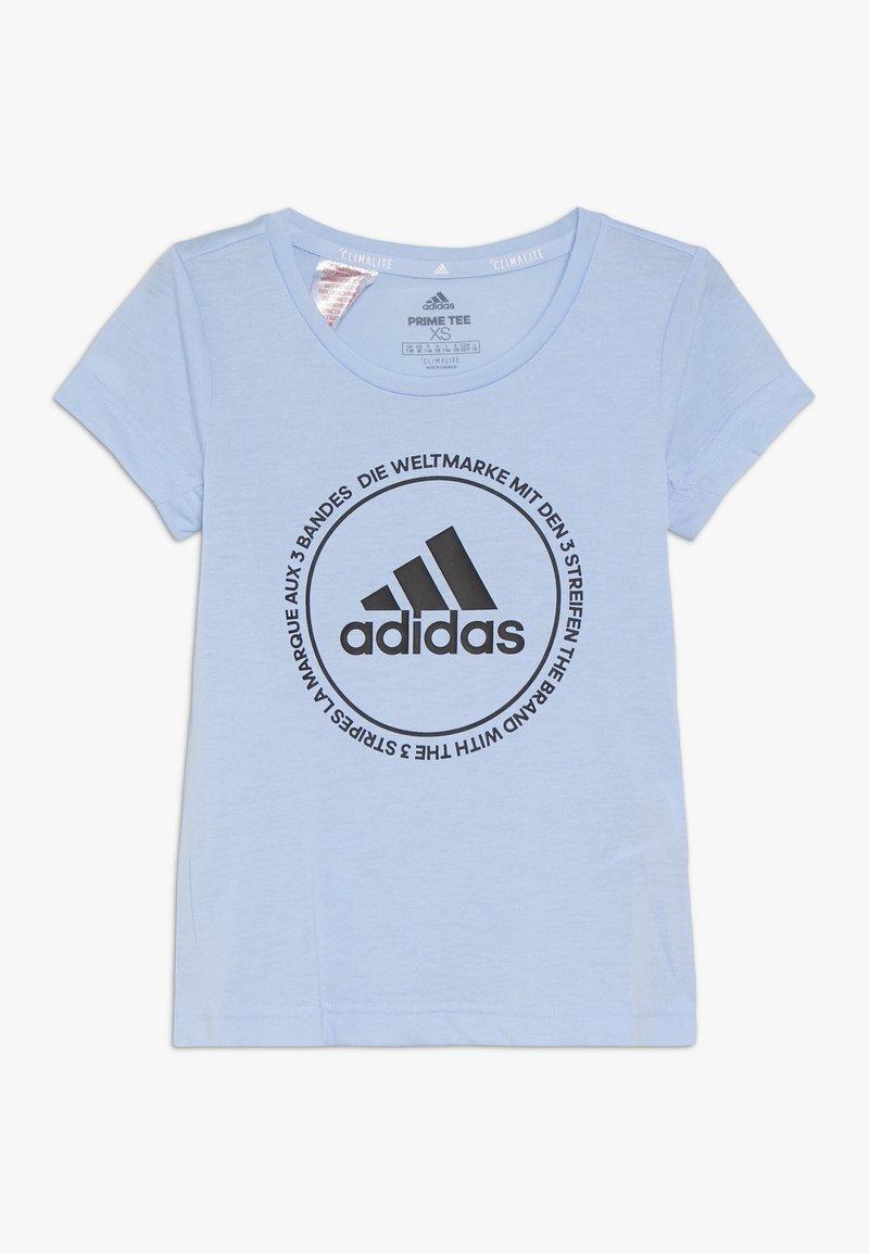 adidas Performance - PRIME TEE - T-shirts print - glow blue/black
