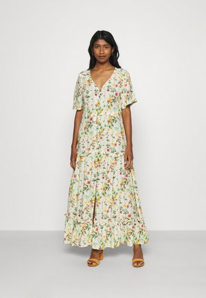 OBJLORENA LONG DRESS - Maxi dress - sandshell/alba