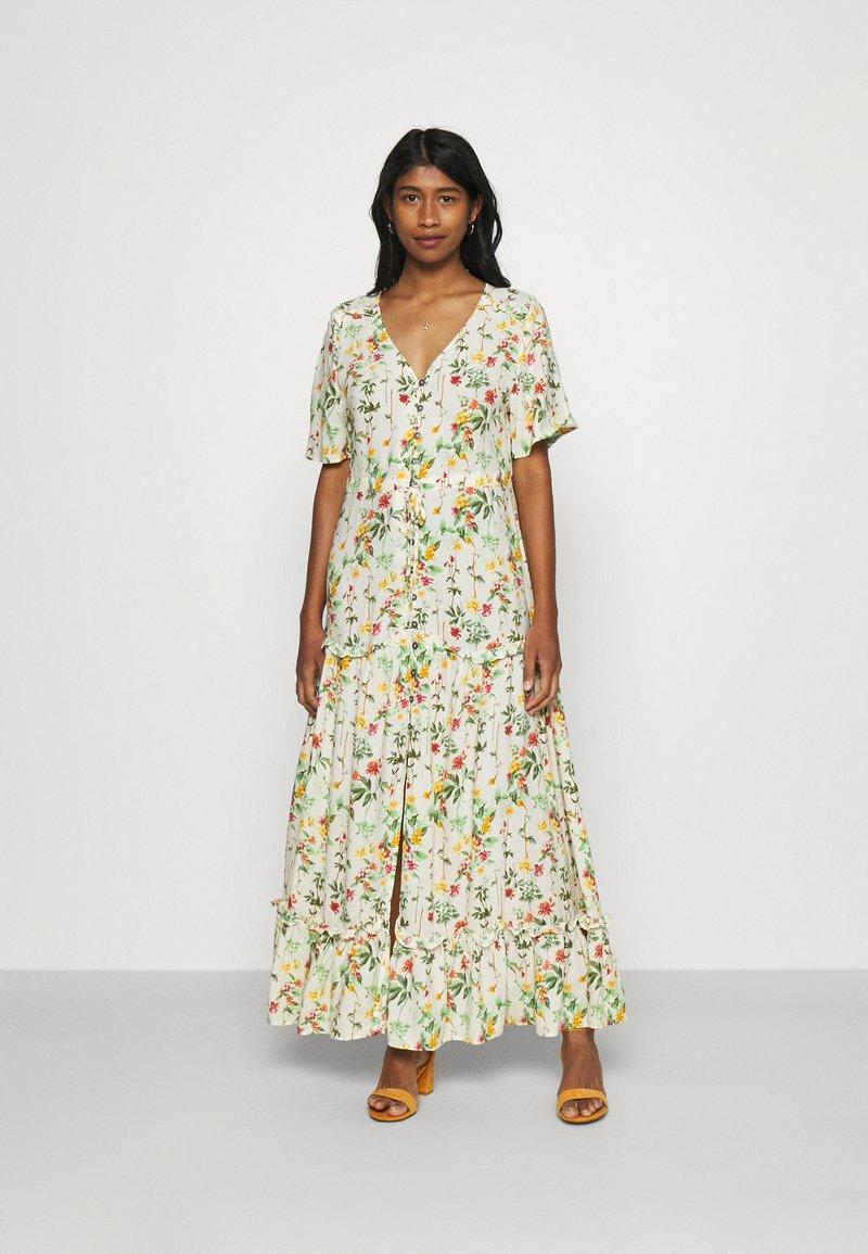 Object - OBJLORENA LONG DRESS - Maxi dress - sandshell/alba