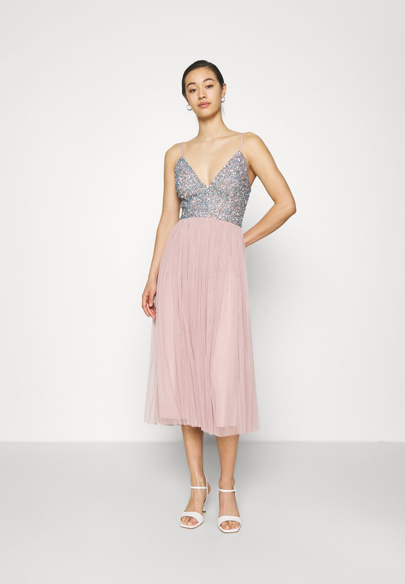 Lace & Beads - AMIRA MIDI - Cocktail dress / Party dress - blue/pink