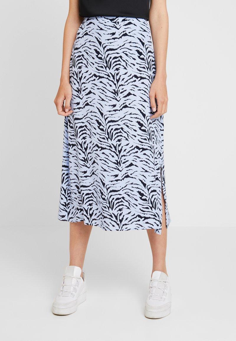 KIOMI - Maxi skirt - light blue/dark blue
