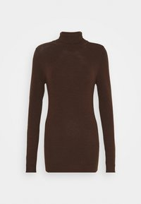 Object Tall - OBJTHESS ROLLNECK  - Jumper - chicory coffee/melange - 0
