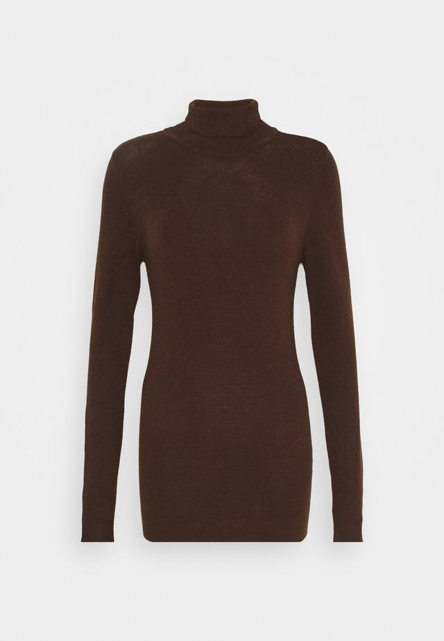 OBJTHESS ROLLNECK  - Jumper - chicory coffee/melange