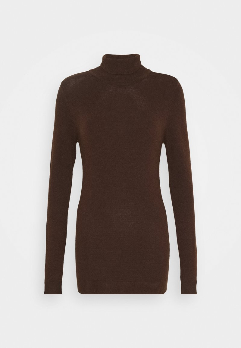 Object Tall - OBJTHESS ROLLNECK  - Jumper - chicory coffee/melange