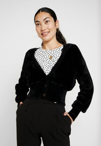 Object Tall - OBJCASRA CARDIGAN - Kofta - black - 0