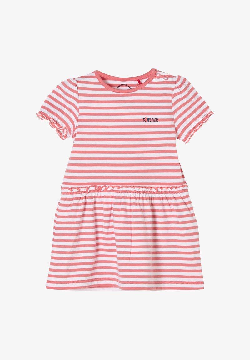 s.Oliver - Jersey dress - light pink stripes