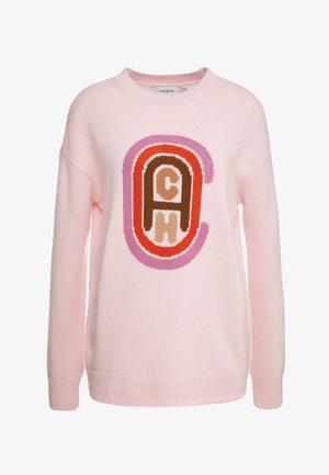 RETRO INTARSIA - Pullover - pink