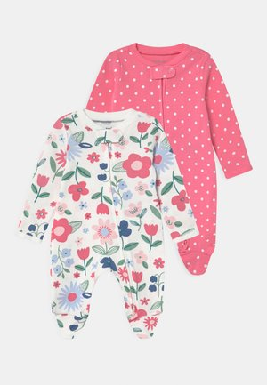 2 PACK - Sleep suit - pink/white