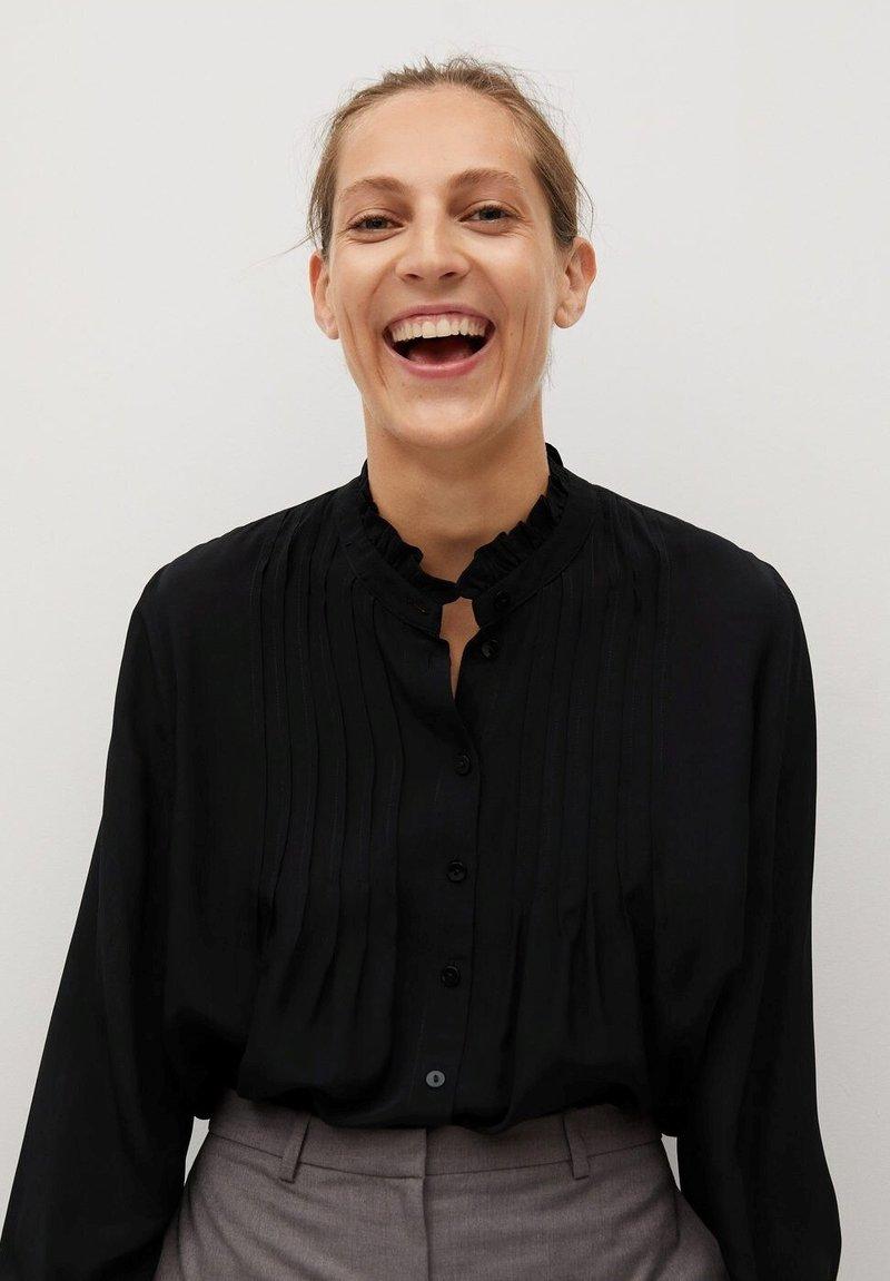 Mango - CACHITO - Button-down blouse - černá