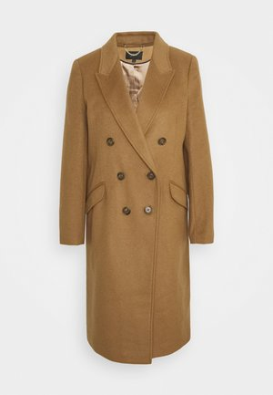 DOUBLE-BREASTED TOPCOAT - Classic coat - sienna