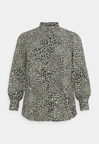 New Look Curves - LEO LEOPARD PRINTED - Button-down blouse - green - 5