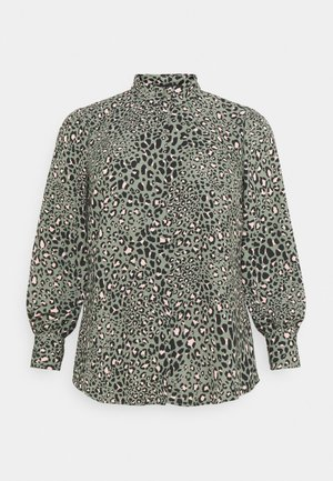 LEO LEOPARD PRINTED - Button-down blouse - green