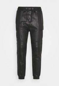 Tigha - RADY - Kožené kalhoty - black - 0
