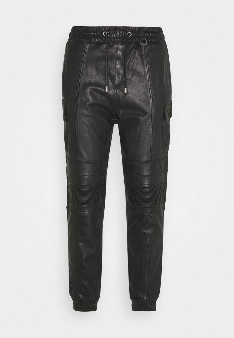 Tigha - RADY - Kožené kalhoty - black