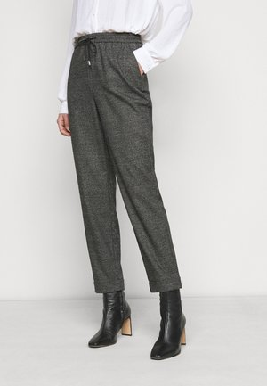 CHECK FORMAL JOGGER - Trousers - grey