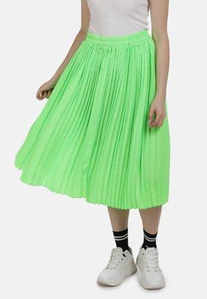 ROCK - Áčková sukně - neon grün